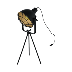 Επιτραπέζιο φωτιστικό μονόφωτο 1xE27 από ατσάλι σε μαύρο & χρυσό χρώμα Eglo CANNINGTON 49673