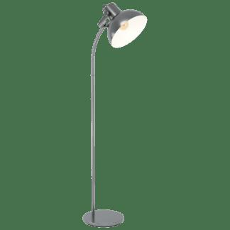 Επιδαπέδιο φωτιστικό μονόφωτο 1xE27 σε χρώμα νίκελ ματ/κρεμ EGLO Lubenham 1 43172