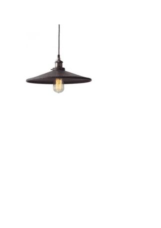 Κρεμαστό φωτιστικό καμπάνα με απόχρωση σκουριά Ø360mm με αντικέ ορειχάλκινο κάλυμμα & ντουί Ε27 σειρά Vintage KS1288P361RT