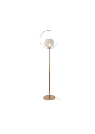 Επιδαπέδιο φωτιστικό Iparelle από μέταλλο & γυαλί σε χρώμα χρυσό/λευκό περλέ Aca DCR17501F