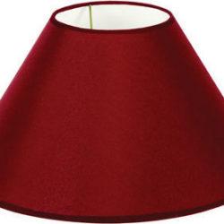 Καπέλο φωτιστικού μονόχρωμο απο οργάντζα σε μπορντώ χρώμα Φ35mm 60080-196987