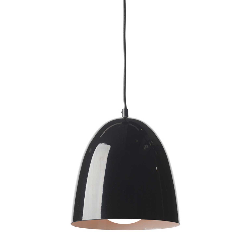 Κρεμαστό φωτιστικό καμπάνα Φ22 σε μαύρο χρώμα από μέταλλο ACA Style KS183222