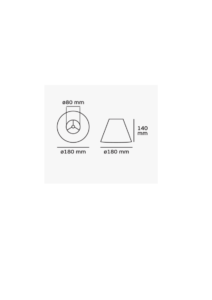 Καπέλο φωτιστικού μονόχρωμο απο οργάντζα σε μπεζ χρώμα Φ18mm 60080-108987