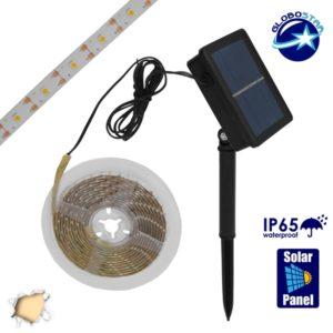 Αυτόνομο Ηλιακό Φωτοβολταϊκό Σετ με 3 Μέτρα Ταινία LED Θερμό Λευκό GloboStar 07027