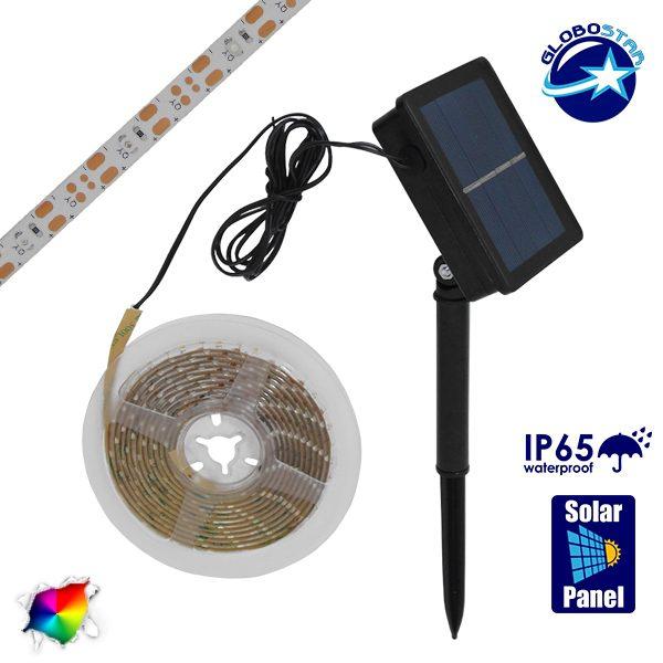 Αυτόνομο Ηλιακό Φωτοβολταϊκό Σετ με 3 Μέτρα Ταινία LED RGB GloboStar 07026