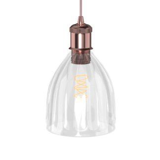 Φωτιστικό Μονόφωτο Γυάλινο με χαλκό DD-GL-0539