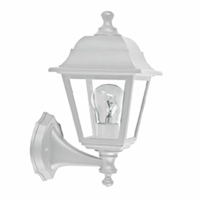 Φωτιστικό απλίκα φανάρι σε λευκό χρώμα Aca Decor PLGP1W