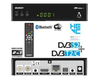 Ψηφιακός Combo Δέκτης LINUX DVB-S2 & DVB-T2 / DVB-C Hybrid 01-08-0009