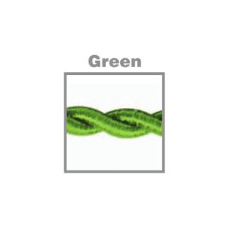 Υφασματινο καλωδιο στριφτο 2x0.75 ø0.6cm σε πρασινο χρώμα VK 47143-077654