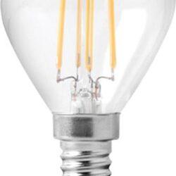 Λάμπα LED G45 Filament 6W E14 520lm σε φυσικό λευκό φως 4000K FOSME 44-05386