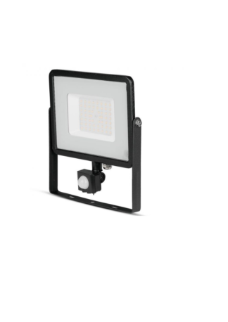 Προβολέας LED Samsung chip 50W Φυσικό λευκό 4000K Μαύρο σώμα με ανιχνευτή VTAC 470