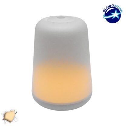 Διακοσμητικό Φορητό Φωτιστικό Νυκτός Θερμού Χρώματος Φ11 GloboStar 07018