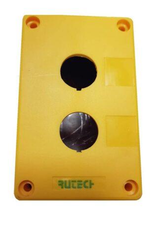 Μπουτονιερα επιτοίχια κενή 2 οπών κίτρινη PV2B 022-202100000