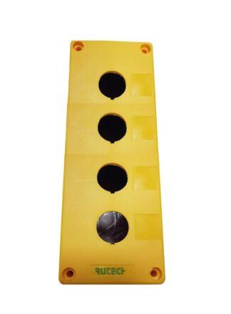Μπουτονιερα επιτοίχια κενή 4 οπών κιτρινη PV2B 022-204100000