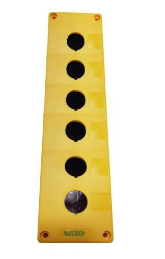Μπουτονιερα επιτοίχια κενή 6 οπών κίτρινη PV6B 022-206100000