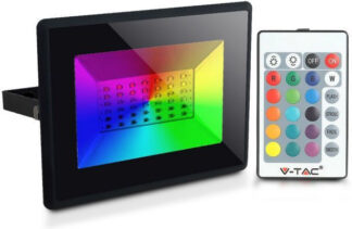 Προβολέας LED 50W RGB Μαύρο σώμα vtac 5996