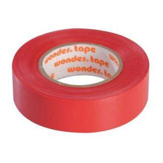 Μονωτική Ταινία PVC Στενή σε Κόκκινο Χρώμα WONDER 19mm x 20mm 17076-020138