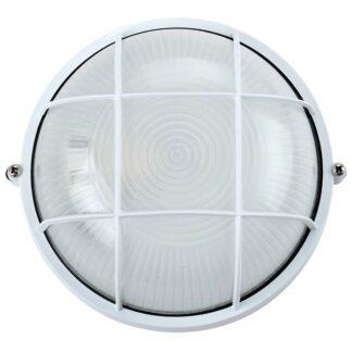 Χελώνα Αλουμινίου Στρογγυλή Με Πλέγμα IP44 E27 D192mm Λευκό Χρώμα 75169-032997
