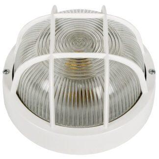 Χελώνα Πλαστική Στρογγυλή Με Πλέγμα IP54 E27 D185mm Λευκό Χρώμα 55610-055639