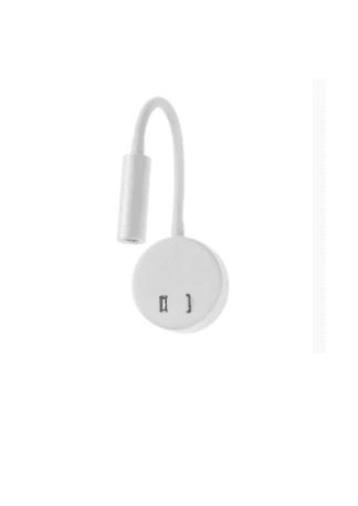 Απλίκα σπιράλ στρόγγυλο με usb led σε λευκό χρώμα Fosme 17-00668-1