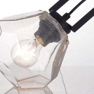 Επιτραπέζιο φωτιστικό σε μαύρο χρώμα με PVC μαύρο καλώδιο Aca Decor V371481TC