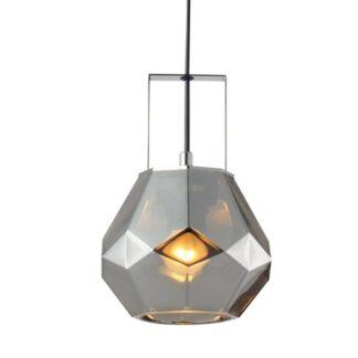 Κρεμαστό φωτιστικό μονόφωτο σε ασημί χρώμα Aca V371481PG