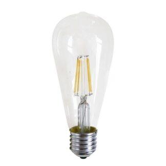 Λαμπτήρας LED Filament ST64 8W E27 Σε Ψυχρό Φως (6000K) E27-00623W