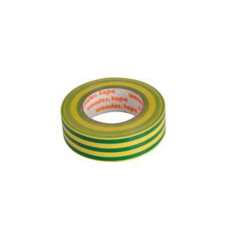Μονωτική Ταινία PVC Στενή σε Κίτρινο-Πράσινο Χρώμα WONDER 19mm x 20mm 17076-027138