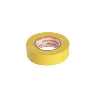 Μονωτική Ταινία PVC Στενή σε Κίτρινο Χρώμα WONDER 19mm x 20mm 17076-014606