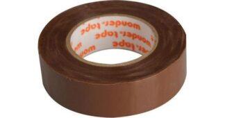 Μονωτική Ταινία PVC Στενή σε Καφέ Χρώμα WONDER 19mm x 20mm 17076-017606
