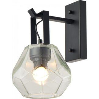 Φωτιστικό τοίχου - απλίκα σε μαύρο χρώμα Aca Decor V371481WC