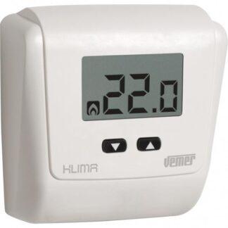 Θερμοστάτης χώρου με οθόνη LCD τροφοδοσία 230V ρύθμιση 2C° έως 35C° KLIMA LCD 230 VEMER 308-002730800