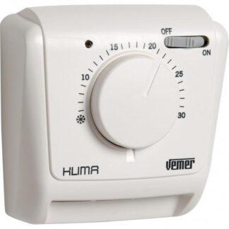 Θερμοστάτης KLIMA SI θέρμανσης - ψύξης με διακόπτη και λυχνία VEMER 308-002021200
