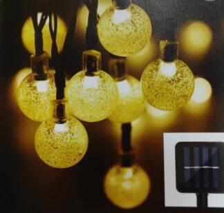 Mini globe LED solar σε θερμό φως 27-00444