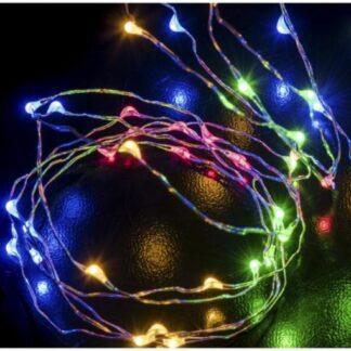 Σύρμα σε Ασημί χρώμα Led Μπαταρίας 3m Πολύχρωμο 27-00608