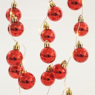 36 Led σειρά με κόκκινες μπάλες ανά 5cm σε θερμό λευκό φως 600-11288