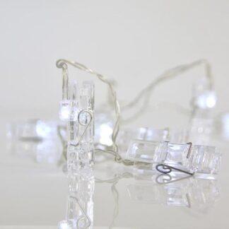 10 led σειρά με πλαστικά μανταλάκια ανα 15cm, σε θερμό λευκό 600-11276