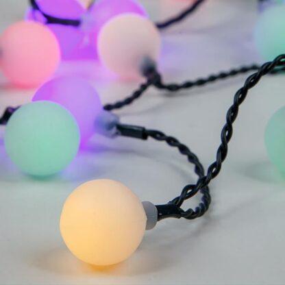 80 led RGB σειρά με λευκές μπάλες ανα 10cm, πράσινο καλώδιο , IP44 600-11913