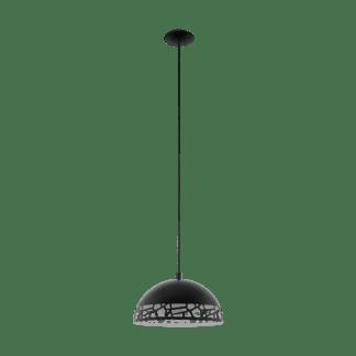 Κρεμαστό Φωτιστικό Μοντέρνο Μονόφωτο Καμπάνα Μαύρο Eglo Savignano 97441