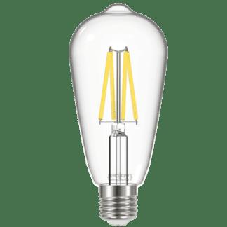 Λάμπα Led Filament Clear E27 ST64 8W σε φυσικό φως 4000K EL822852