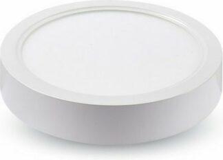 LED panel επιφανειακό 18W 4000K Φυσικό λευκό Στρογγυλό 4917