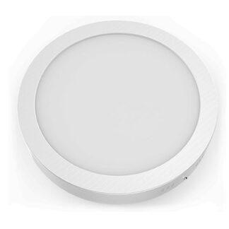 Panel Led στρογγυλό επίτοιχο σε λευκό χρώμα 18W 230V σε ενδιάμεσο φως 4000k Aca ARCA1840RW